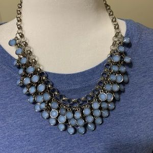 The limited light blue statement necklace